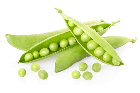 Peas isolated on white photo