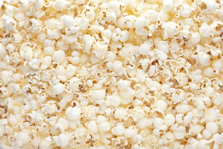 Popcorn texture background photo