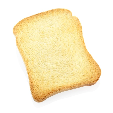 rusk: Single toast or rusk isolated Stock Photo