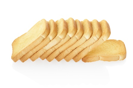 Rusk bread on white photo