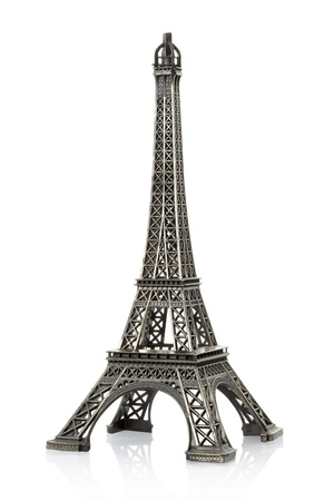 Eiffel tower on white