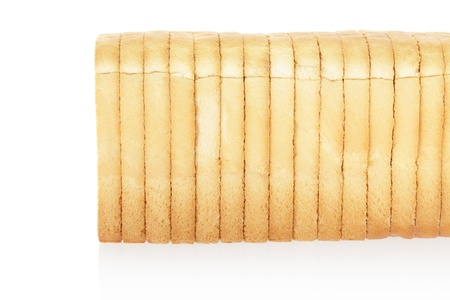 wheat toast: Sliced bread isolated on white, clipping path included Stock Photo