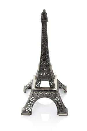 Eiffel tower on white background photo