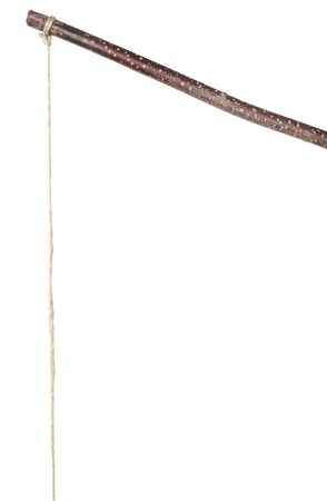Stick and string isolated on white Stock Photo - 13910435