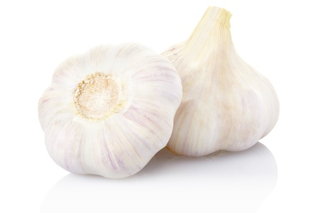 onion isolated: Garlic   Stock Photo