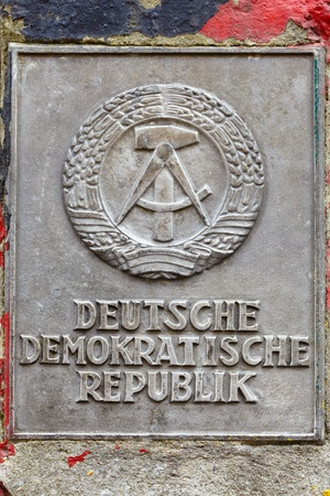 ddr: DDR sign in Berlin