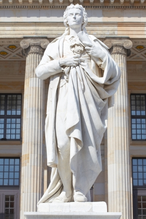 Friedrich Schiller statue in Gendarmenmarkt, Berlin Stock Photo - 15239007