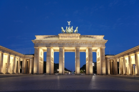 brandenburg: Brandenburg gate at night, Berlin