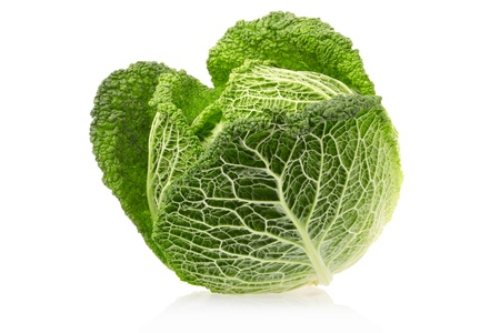 Cabbage isolated on white Stock Photo - 16378865