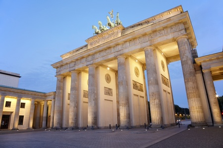 Brandenburg gate at night, Berlin photo