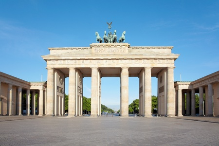 Brandenburg gate, summer in Berlin photo