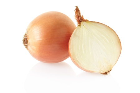 onion isolated: Onions on white background, clipping path included Stock Photo