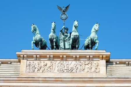 Brandenburg gate, blue sky, Berlin