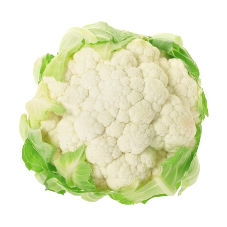 Cauliflower isolted on white, clipping path included