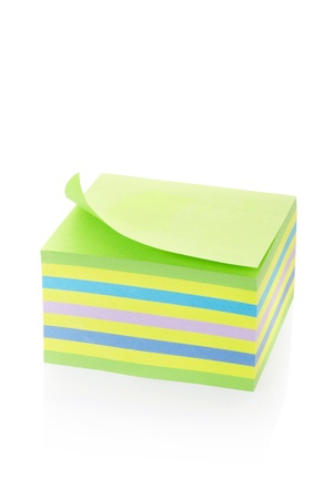 Sticker note block isolated on white, clipping path included  Detailed paper  Stock Photo - 16672867