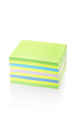 block note: Sticker note block isolated on white, clipping path included  Detailed paper