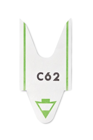 entry numbers: Turn ticket isolated on white, clipping path included