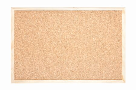 Blank cork board isolated on white, clipping path included  photo