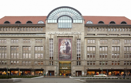BERLIN - DECMBER 27  Kadewe shopping mall exterior on December 27, 2012 in Berlin   Kadewe is the second largest department store in Europe