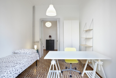 Bedroom in modern apartment