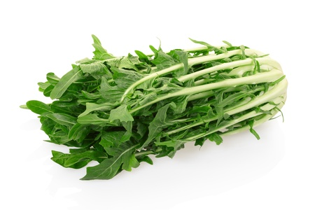 chicory: Chicory or catalogna salad on white with clipping path Stock Photo