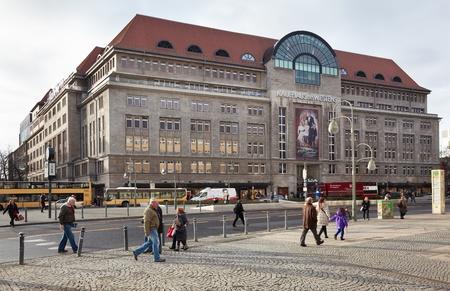 Kadewe shopping mall exterior in Berlin