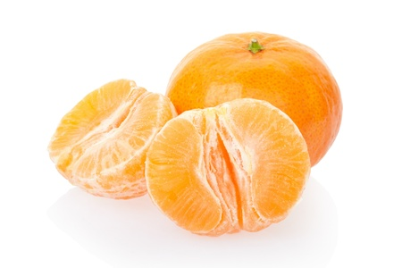 Tangerine isolated on white, clipping path included photo