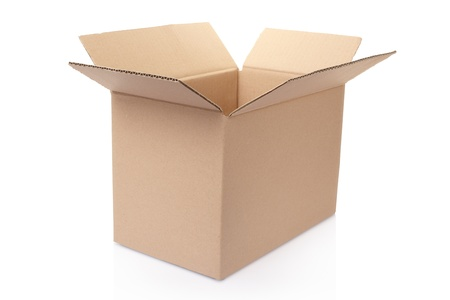Cardboard box isolated on white Stock Photo - 18952917