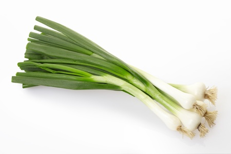Fresh onion on white, clipping path included Stock Photo