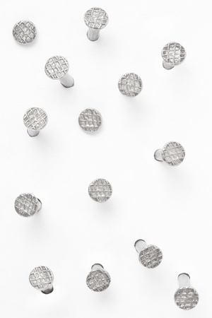 Metal nail heads collection, clipping path included
