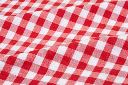 Red and white gingham texture background photo