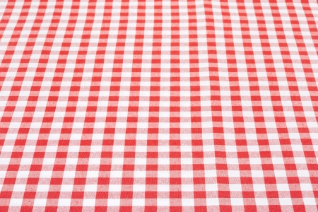 Red and white gingham tablecloth photo