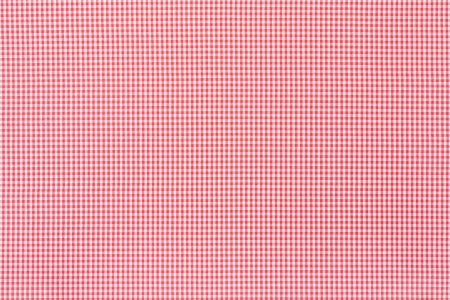 Red and white tablecloth texture background photo