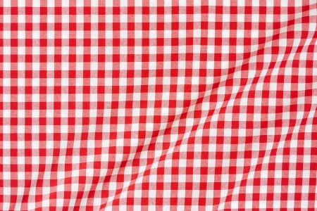 Red and white gingham tablecloth background photo