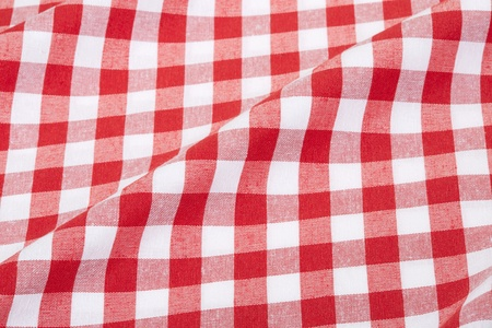 Red and white checked tablecloth texture background  photo