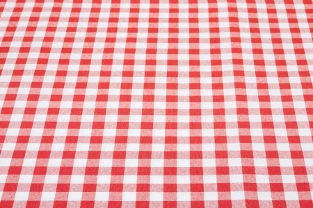 white linen: Tablecloth red and white perspective texture background  Stock Photo
