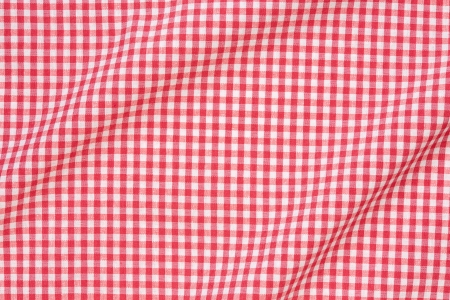 Tablecloth red and white texture background, high detailed  Stock Photo