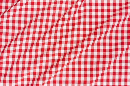 Tablecloth red and white wavy texture background  photo