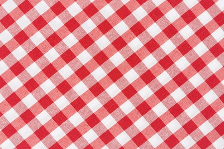 Tablecloth red and white diagonal texture background photo
