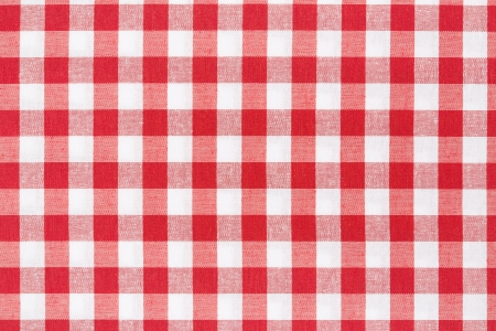 Red and white gingham tablecloth texture background  Фото со стока