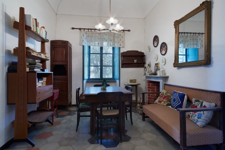 and living: Living room in old house in Italy