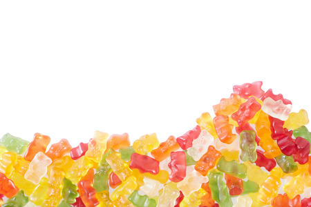 Gummy bears candies border