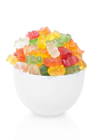 Gummy bears candies bowl