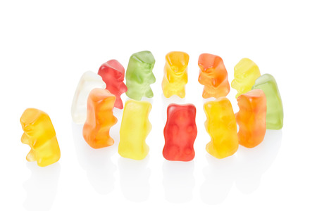 exclusion: Gummy bears exclusion concept