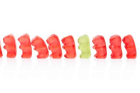 Gummy bears caramelle fila, concetto di differenza