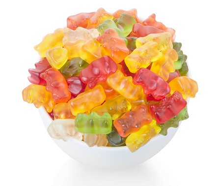Gummy: Gummy bears candies bowl