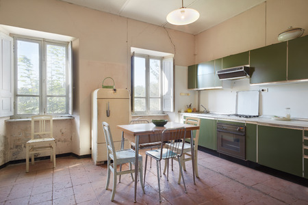 Old kitchen in country house photo