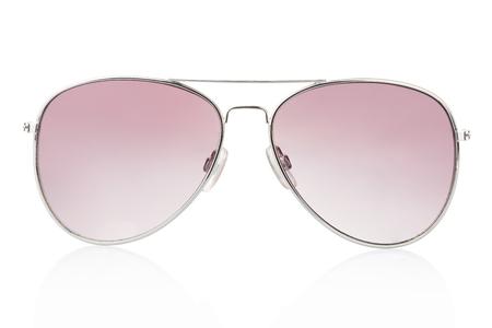 Aviator Sonnenbrille isoliert auf weiß Standard-Bild - 24441049