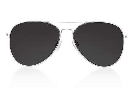 protective glasses: Aviator sunglasses isolated on white Stock Photo