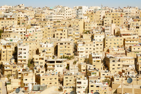 Middle east buildings and houses in the morning in Amman, Jordan Banco de Imagens